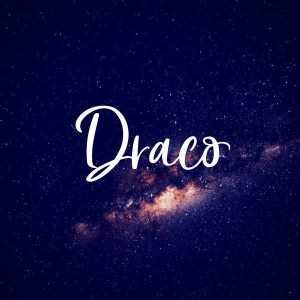Draco is a unique baby name inspired by the same constellation in space. Great as an alternative to the popular baby boy name Drake.
