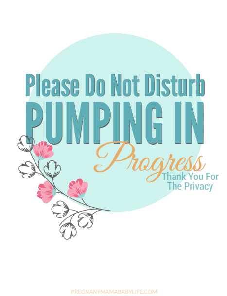 Pumping in progress door sign