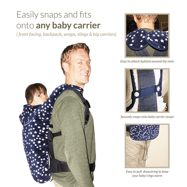 Baby carrier cover for winter time.
