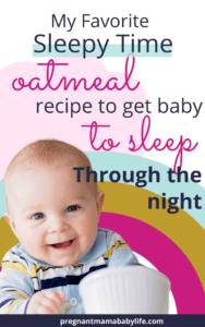 baby oatmeal recipe