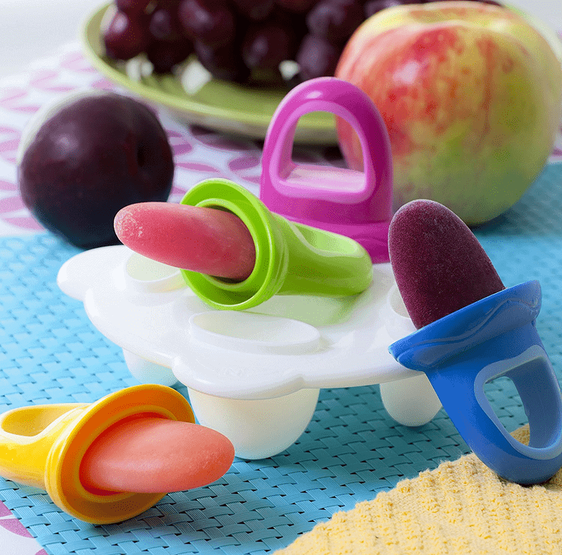 Baby popsicle mold tray. Perfect for breast milk popsicles for teething baby.