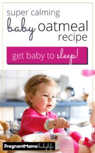 baby oatmeal recipe to sleep