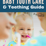 Teething and baby tooth care is nothing to stress over. Easy and simple ways to help a teething baby and care for new baby teeth. How to brush baby teeth.