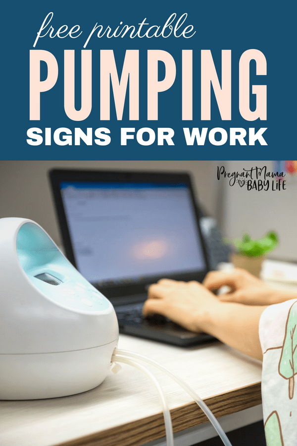 Free printable breast pumping signs for work. These printable signs are great for breastfeeding moms going back to work.