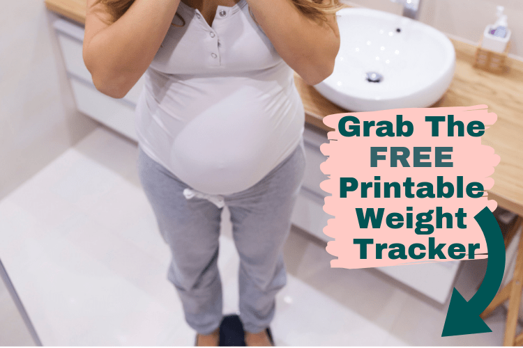 Worried about gaining too much weight during pregnancy? Grab our free printable weight tracker!