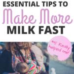 make milk faster