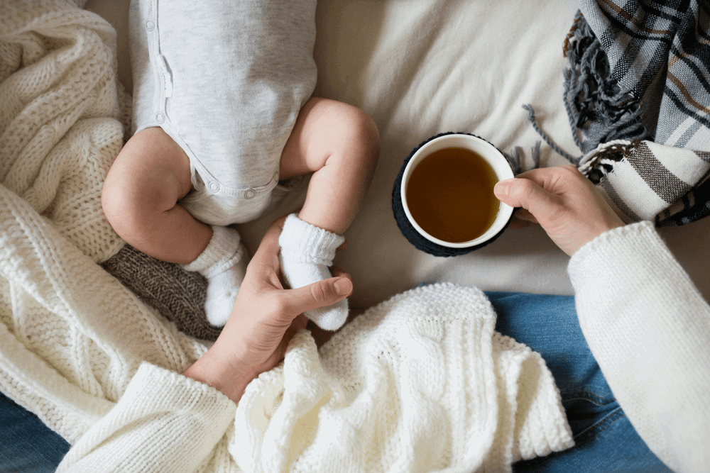 Our best postpartum recovery tips include healing postpartum teas,