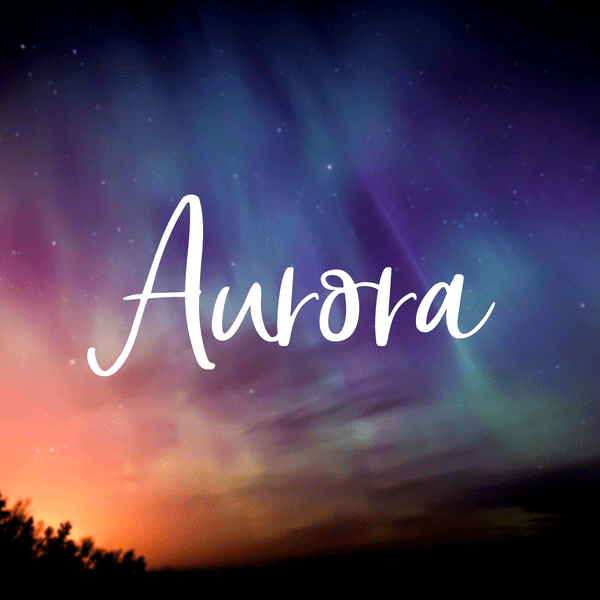 Gorgeous baby girl space names. Aurora is one of my favorites.