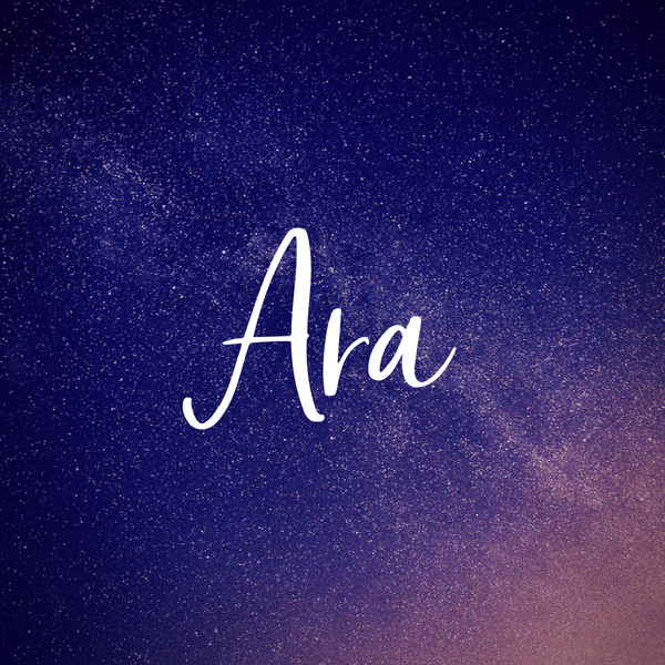 Space themed baby names. Baby girl name Ara.