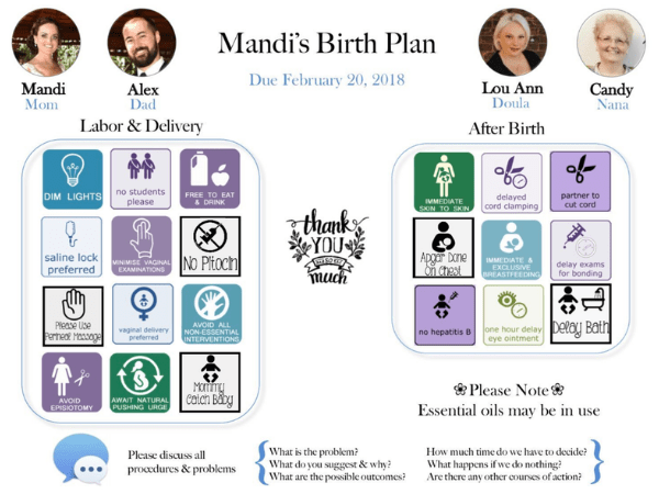 9 birth plan templates and generators  this is game changing