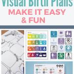 various visual birth plans templates