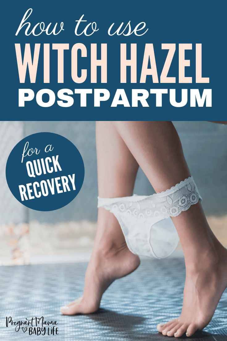 witch hazel pads for after birth