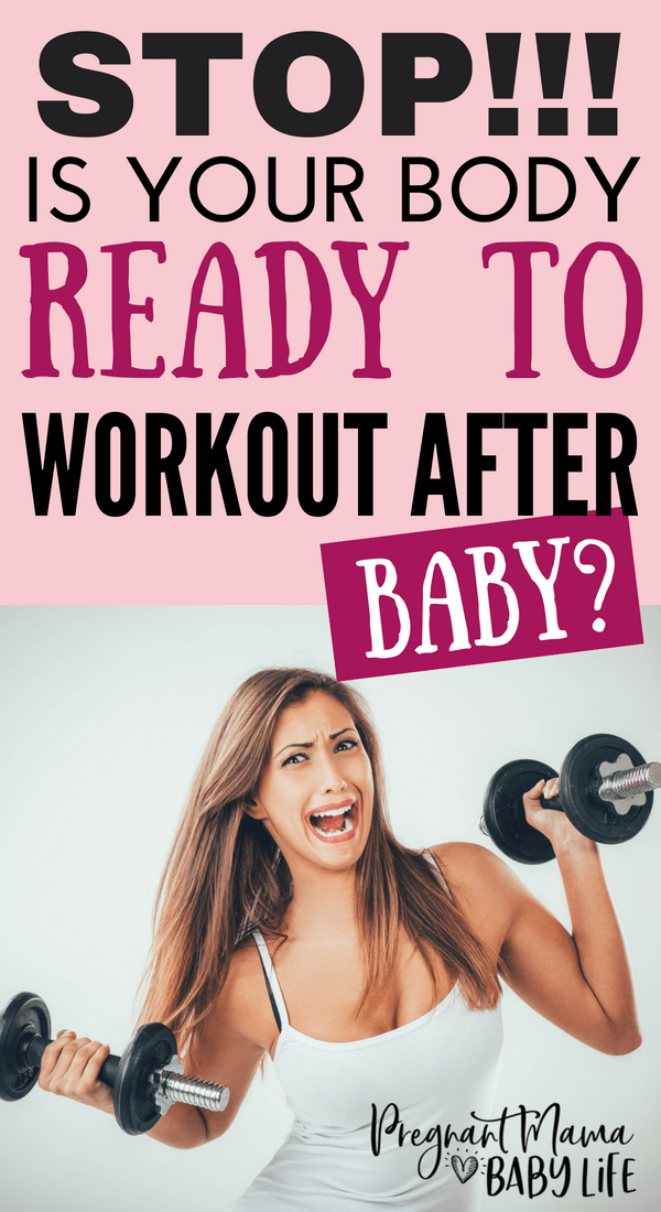 Is your body ready to workout after baby? Things you need to know about your body before you get into a postpartum fitness routine. This will save you from getting injured!!